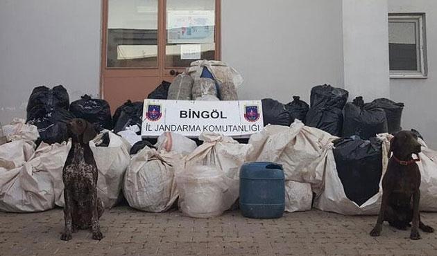 Bingöl'de 715 kilo esrar yakalandı