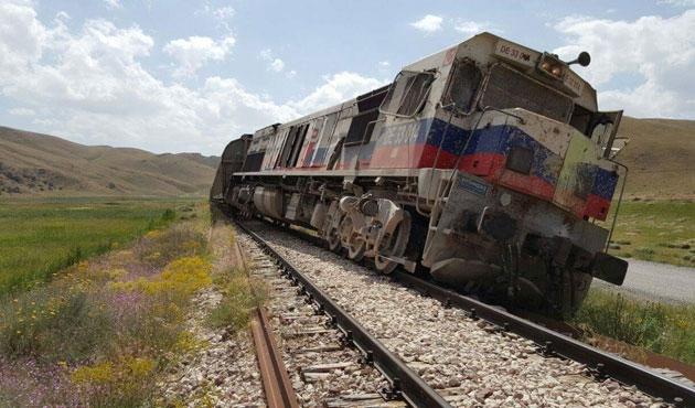 Yük trenine PKK saldırısı
