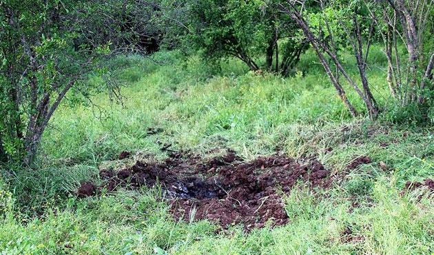 Yayladağı kırsalına top mermisi atıldı