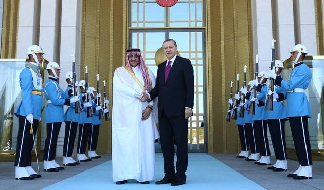Erdoğan Suudi Arabistan Prensiyle görüştü