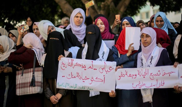 Öğrencilerden Abbas'a Peres tepkisi