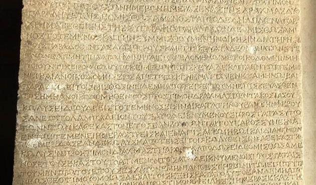 İzmir'de 2200 yıllık kira sözleşmesi bulundu