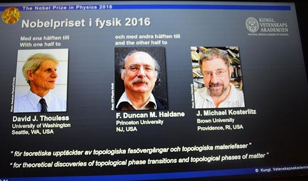 Nobel Fizik Ödülü, üç bilim adamının