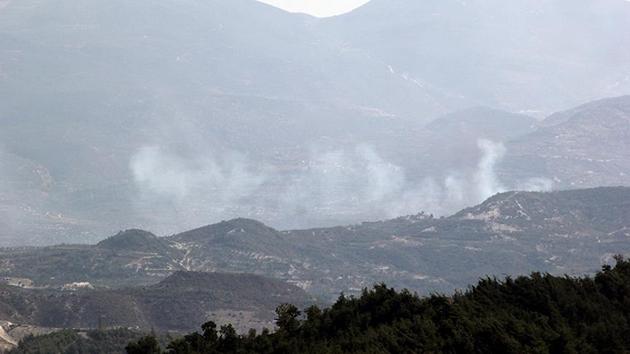 Lazkiye kırsalı alev alev yanıyor
