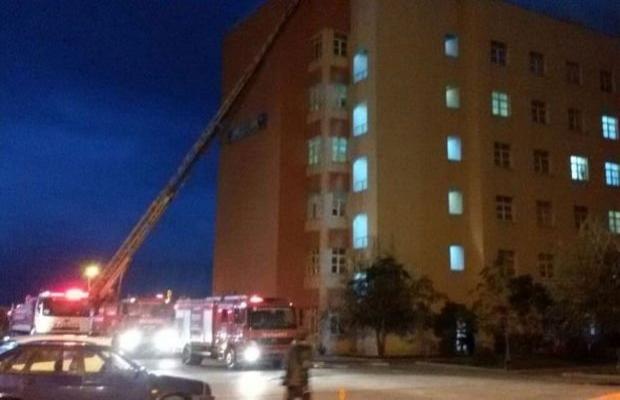 Bandırma Devlet Hastanesinde yangın