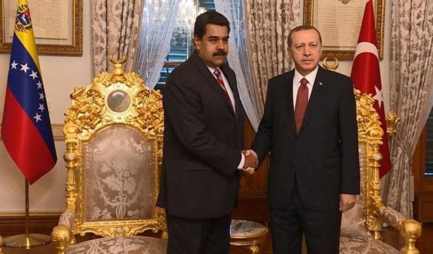Erdoğan, Venezüela lideri Maduro ile görüştü