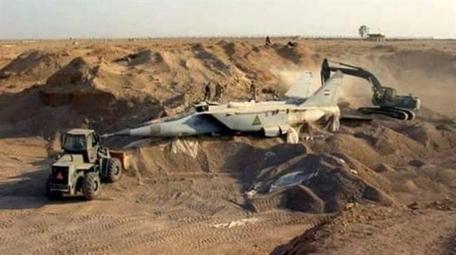 Gömülü savaş uçaklarının izi bulundu