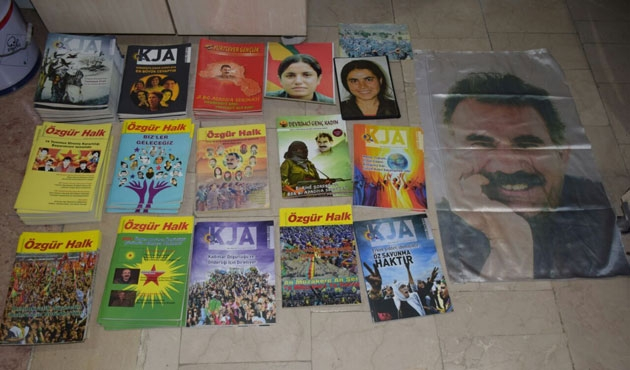HDP binasında Öcalan posteri