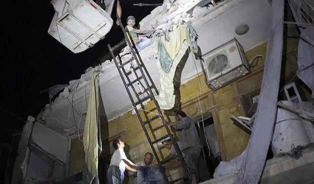 Halep'te hava saldırısında 49 ölü