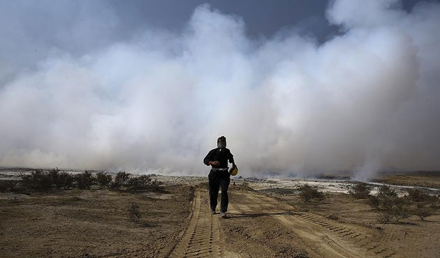 Musul'da kükürt tesisi yangını sürüyor