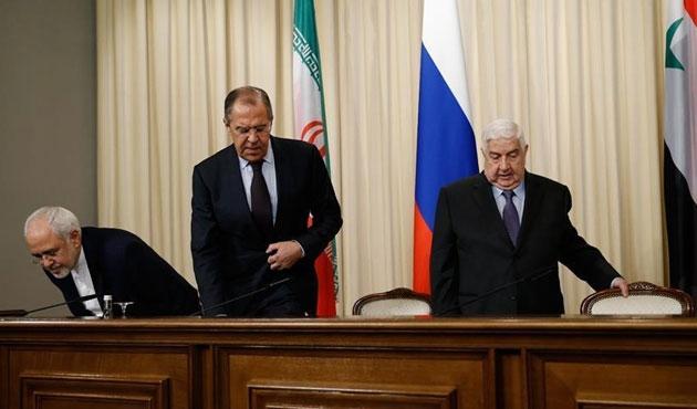 Rusya, İran ve Suriye dışişleri bakanları görüştü