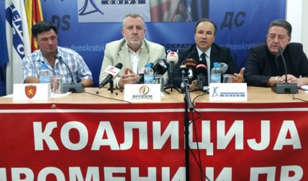 Makedonya'da seçim öncesi Muhalif sağ partileri birleşiyor