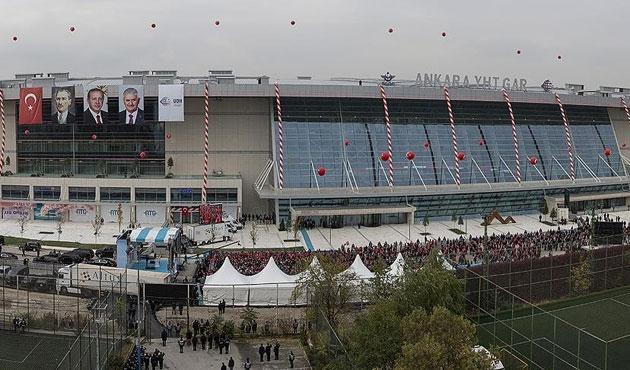 Ankara YHT Garı'nda seferler yarın başlıyor
