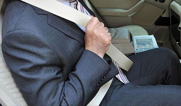 Arka koltukta kemer takmayana 92 lira ceza