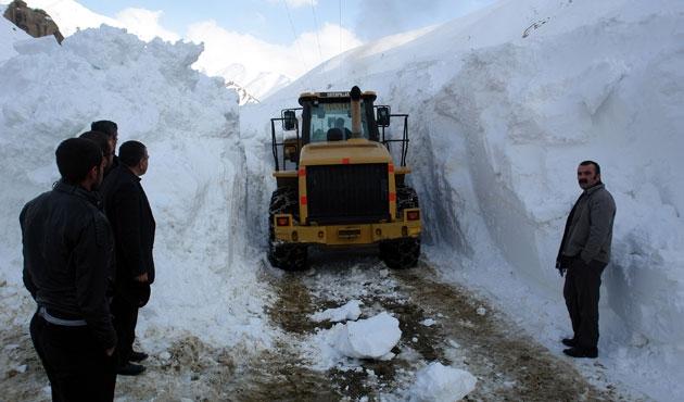 Doğu Anadolu'da 411 köy yolu kapandı