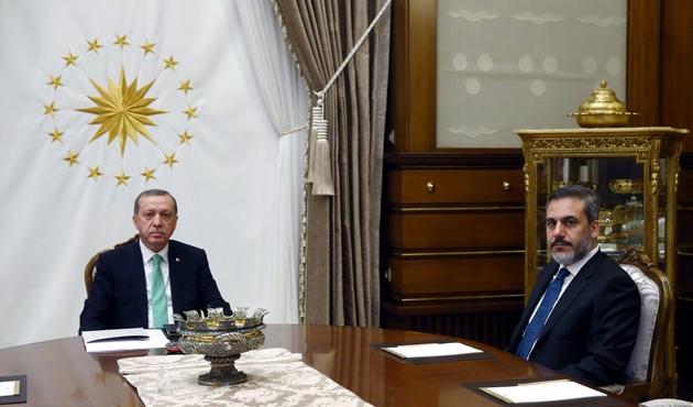 Cumhurbaşkanı Hakan Fidan'ı kabul etti