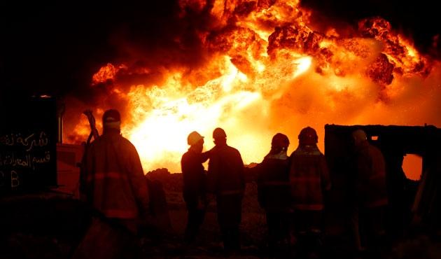Bodrum'da atık çöplüğünde yangın
