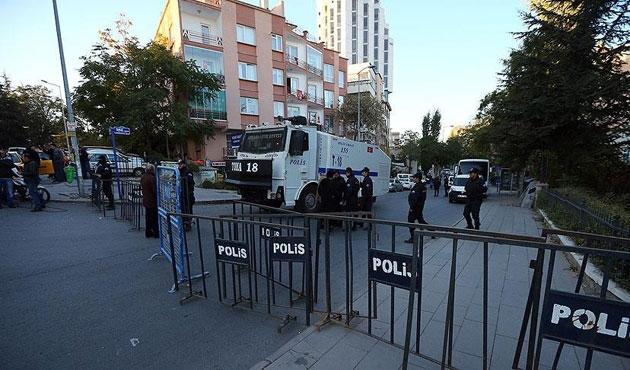 HDP Genel Merkezi önünde güvenlik önlemleri