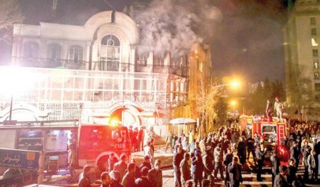 İran'da Suudi Arabistan Büyükelçiliğine saldırıya hapis