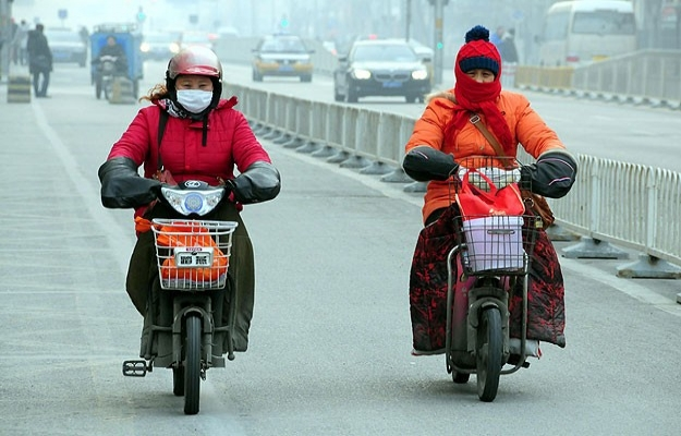 Çin'de hava kirliliği turuncu oldu