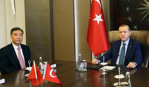 Cumhurbaşkanı Erdoğan, Wang Yang'ı kabul etti