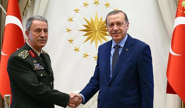Erdoğan, Akar'ı kabul etti