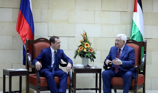 Rusya Başbakanı Medvedev Batı Şeria'da