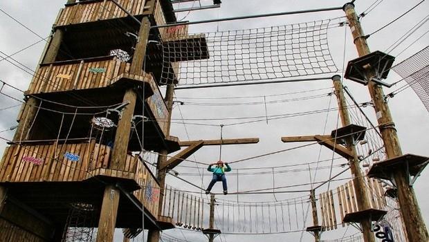 Kütahya'da 'macera parkı' hizmete açıldı