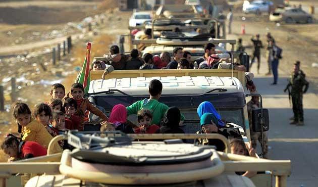 Musul'dan kaçan 36 bin kişi IKBY'ye sığındı
