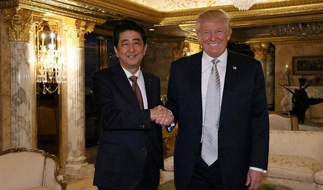Trump ile ilk görüşen lider Abe oldu
