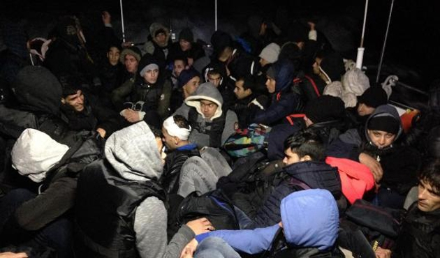 Didim açıklarında 60 Suriyeli göçmen yakalandı