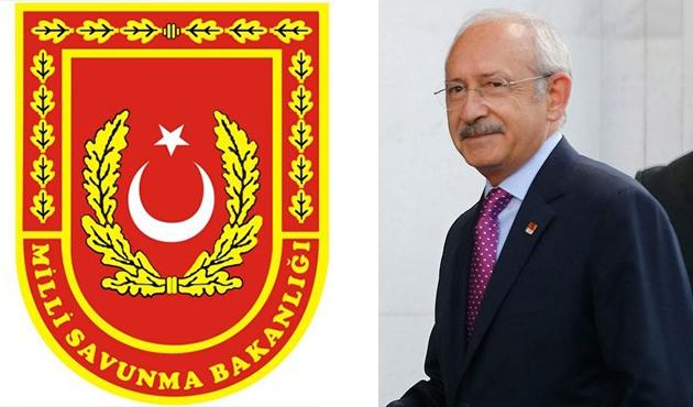 Savunma Bakanlığı'ndan Kılıçdaroğlu'na yalanlama