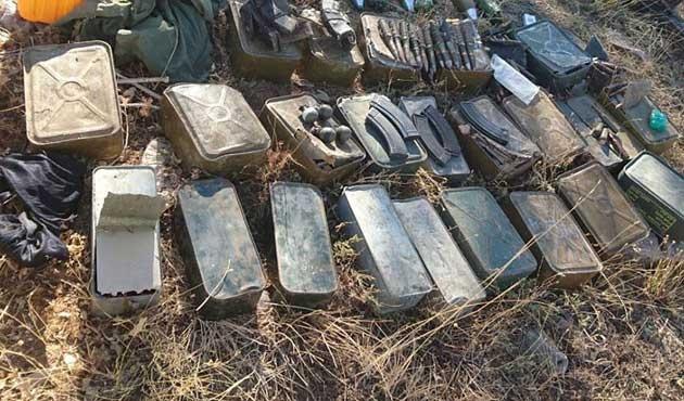 Patlayıcı yapımında kullanılan çok sayıda malzeme yakalandı