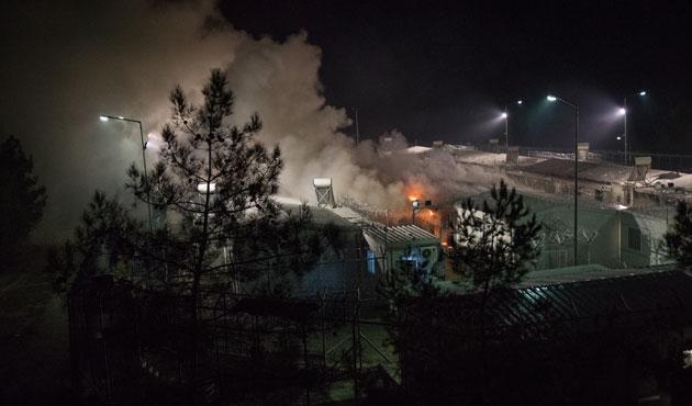 Midilli'de göçmen kampında patlama