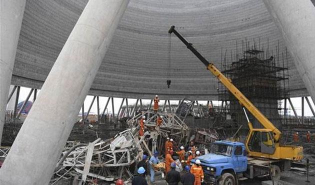 Çin'deki santral göçüğünün bilançosu büyüyor