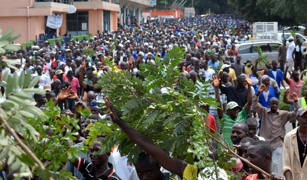 Burundililer BM Konseyini protesto etti