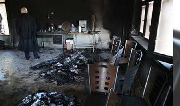 Kayseri'de CHP İlçe Başkanlığının kundaklandığı iddiası