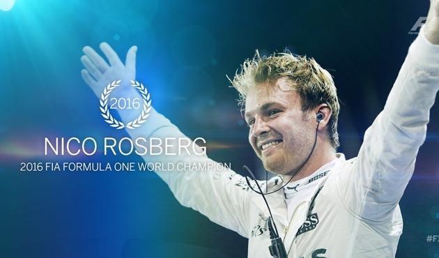 2016 F1 şampiyonu Nico Rosberg