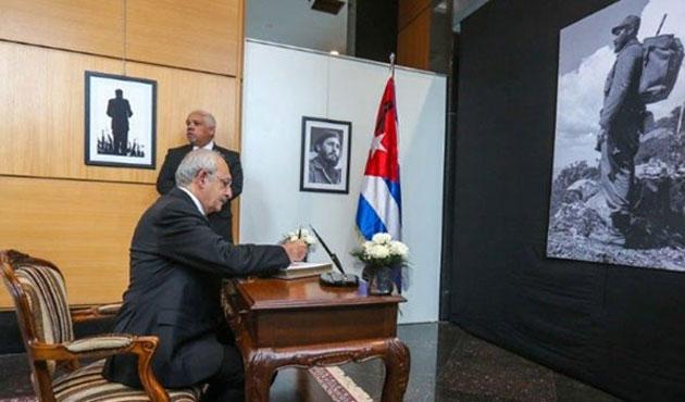 Kılıçdaroğlu'ndan Küba Büyükelçiliği'ne taziye ziyareti