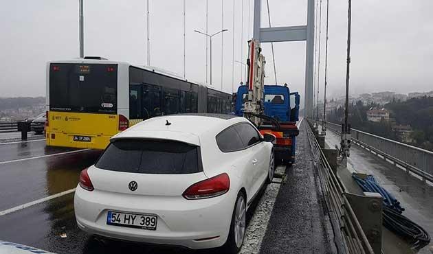 15 Temmuz Köprüsü'nde şüpheli araç alarmı
