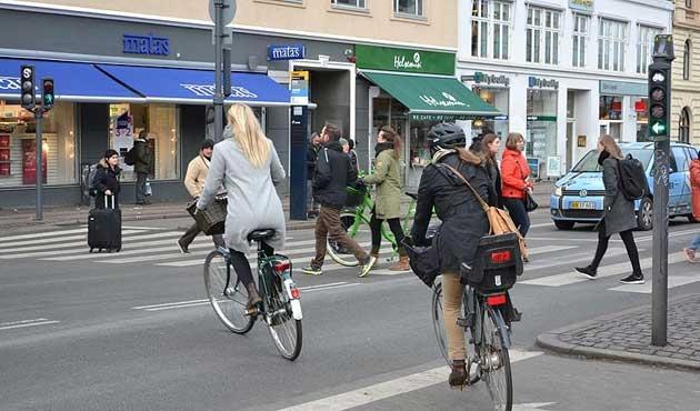 Kopenhag'da bisiklet sayısı araba sayısını geçti