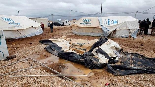 Ürdün'deki mülteci kampında iki çocuk donarak öldü