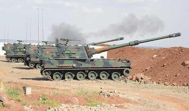 Fırat Kalkanı'nda DEAŞ'a ait hedefler ateş altında