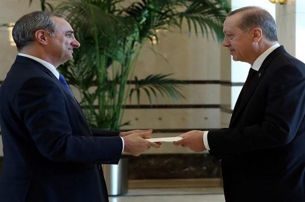 İsrail Büyükelçisi Naeh itimatnamesini sundu