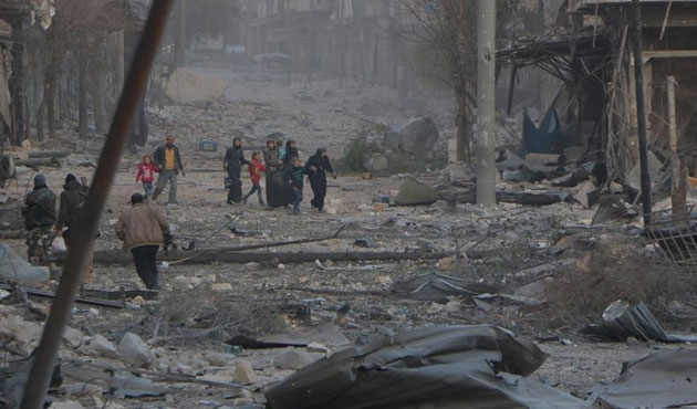 Doğu Halep'te saldırılar durmadı