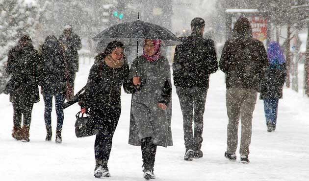 Salı gününden itibaren yoğun kar bekleniyor