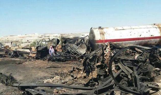 Suriye'de DEAŞ'ın 168 petrol tankeri vuruldu