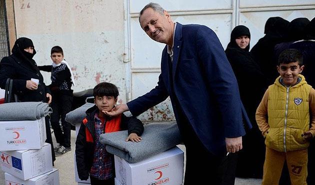 Kızılay'dan Suriyeli ailelere yardım