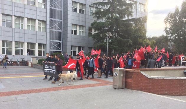 Boğaziçi Üniversitesi'nde teröre karşı yürüyüş
