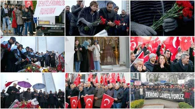 Beşiktaş'taki terör saldırısına tepkiler sürüyor